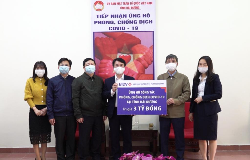 BIDV ủng hộ phòng, chống dịch Covid-19 tại Hải Dương, Quảng Ninh
