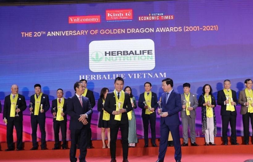 Herbalife Nutrition tiếp tục được vinh danh tại Giải thưởng Rồng Vàng năm 2021