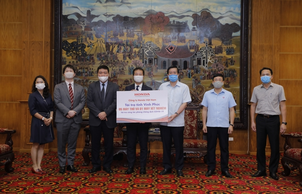 Honda Việt Nam ủng hộ phòng chống COVID-19 tại Vĩnh Phúc và Hà Nam